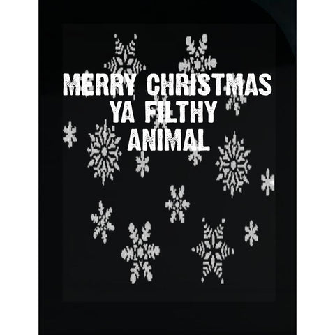 Merry Christmas Ya Filthy Animal Ugly Cheap Xmas Sweater - Transparent Sticker