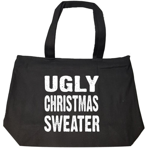 Merry Xmas Ugly Cheap Christmas Sweater - Fashion Zip Tote Bag