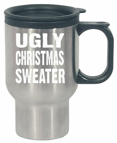 Merry Xmas Ugly Cheap Christmas Sweater - Stainless Steel Travel Mug