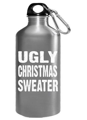 Merry Xmas Ugly Cheap Christmas Sweater - Water Bottle