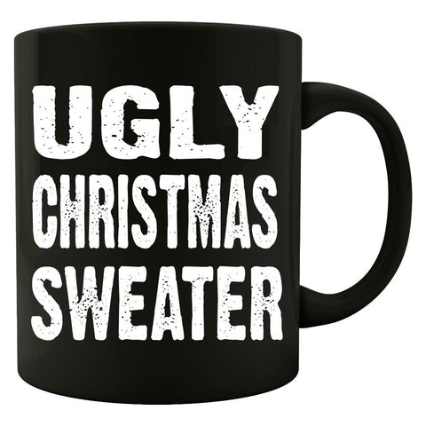 Merry Xmas Ugly Cheap Christmas Sweater - Colored Mug