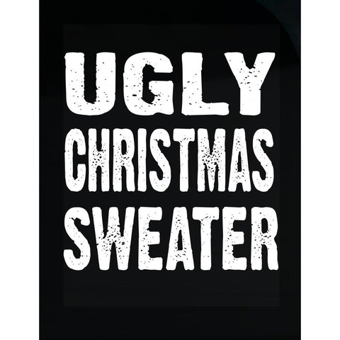 Merry Xmas Ugly Cheap Christmas Sweater - Transparent Sticker