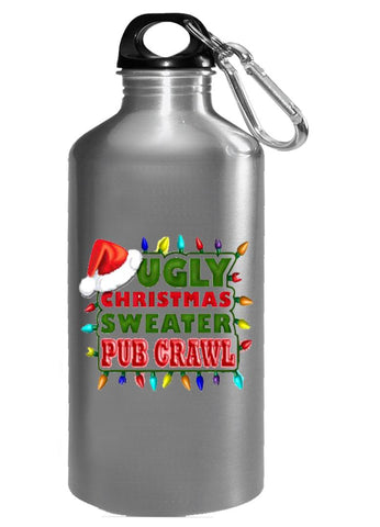 Ugly Christmas Sweater Pub Crawl Fugly Cheap - Water Bottle