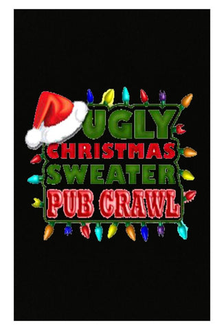 Ugly Christmas Sweater Pub Crawl Fugly Cheap - Poster