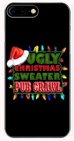 Ugly Christmas Sweater Pub Crawl Fugly Cheap - Phone Case for iPhone 6+, 6S+, 7+, 8+