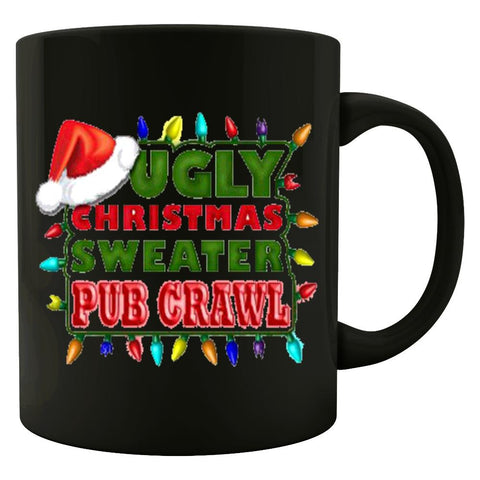 Ugly Christmas Sweater Pub Crawl Fugly Cheap - Colored Mug