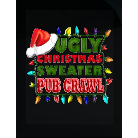 Ugly Christmas Sweater Pub Crawl Fugly Cheap - Transparent Sticker