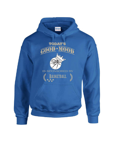 Todays Good Mood Is Sponsored By Basketball - Hoodie S-Royal- Cool Jerseys - 1