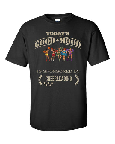 Todays Good Mood Is Sponsored By Cheerleading - Unisex Tshirt S-Black- Cool Jerseys - 1