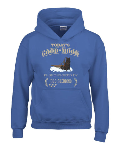 Todays Good Mood Is Sponsored By Dog Sledding - Hoodie S-Royal- Cool Jerseys - 1