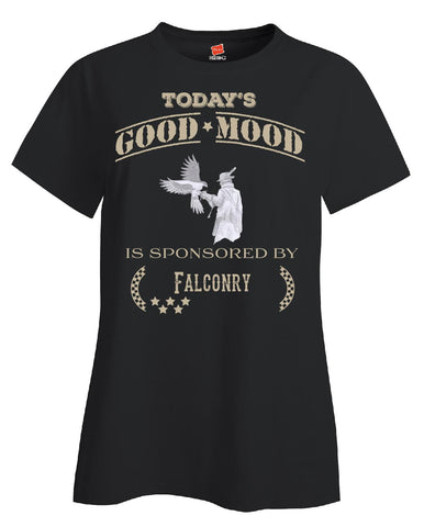 Todays Good Mood Is Sponsored By Falconry - Ladies T Shirt - Cool Jerseys - 1