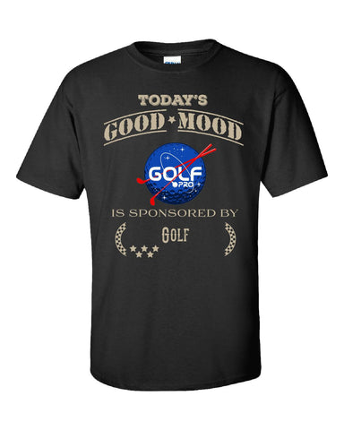 Todays Good Mood Is Sponsored By Golf - Unisex Tshirt S-Black- Cool Jerseys - 1