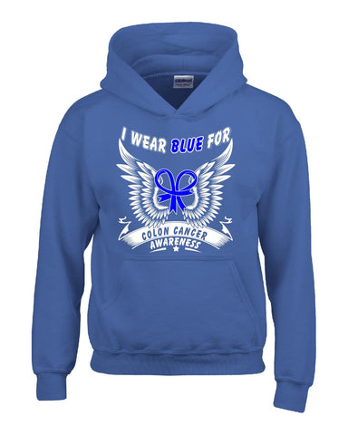 Colon Cancer Awareness Survivor I Wear Blue - Hoodie S-Royal- Cool Jerseys - 1