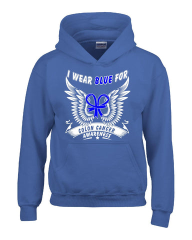 Colon Cancer Awareness I Wear Blue - Hoodie S-Royal- Cool Jerseys - 1