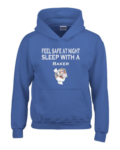 Feel Safe At Night Sleep With A Baker - Hoodie S-Royal- Cool Jerseys - 1