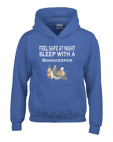 Feel Safe At Night Sleep With A Bookkeeper - Hoodie S-Royal- Cool Jerseys - 1
