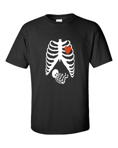Pregnant Halloween Maternity Scary Skeleton Costumes - Unisex Tshirt S-Black- Cool Jerseys - 1
