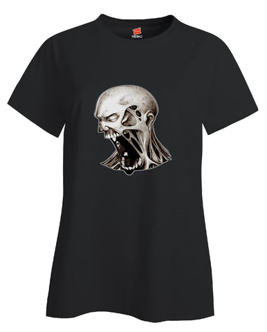 Dead Walking Scary Halloween Zombies Costume - Ladies T Shirt S-Black- Cool Jerseys - 1
