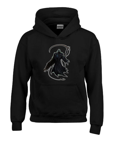 Grim Reaper Death Happy Halloween - Hoodie S-Black- Cool Jerseys - 1