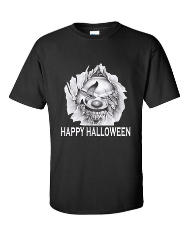 Happy Halloween Scary Clown Clowns Costume - Unisex Tshirt S-Black- Cool Jerseys - 1