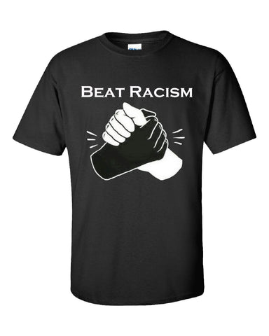 Beat Racism And Racist In America USA - Unisex Tshirt S-Black- Cool Jerseys - 1