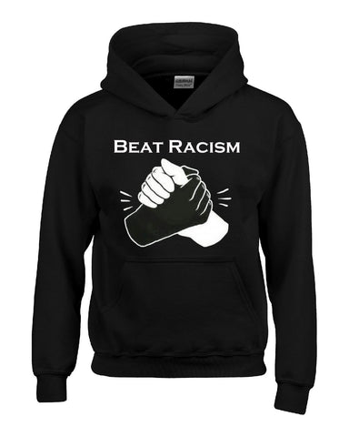 Beat Racism And Racist In America USA - Hoodie S-Black- Cool Jerseys - 1