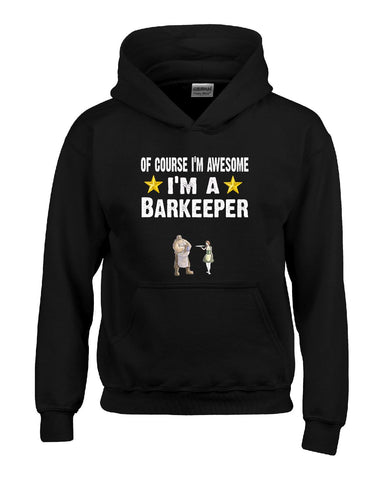 Of Course Im Awesome Im A Barkeeper Funny Sarcastic - Hoodie S-Black- Cool Jerseys - 1