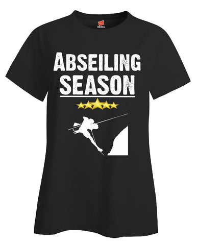 Abseiling Season Sport - Ladies T Shirt S-Black- Cool Jerseys - 1