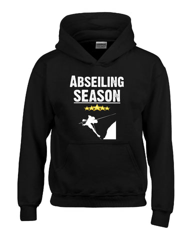 Abseiling Season Sport - Hoodie S-Black- Cool Jerseys - 1