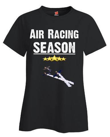 Air Racing Season Sport - Ladies T Shirt S-Black- Cool Jerseys - 1