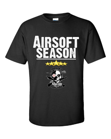 Airsoft Season Sport - Unisex Tshirt S-Black- Cool Jerseys - 1