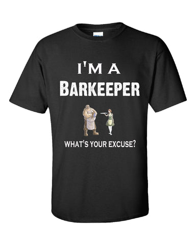 Im A Barkeeper - What's Your Excuse Funny & Sarcastic - Unisex Tshirt S-Black- Cool Jerseys - 1