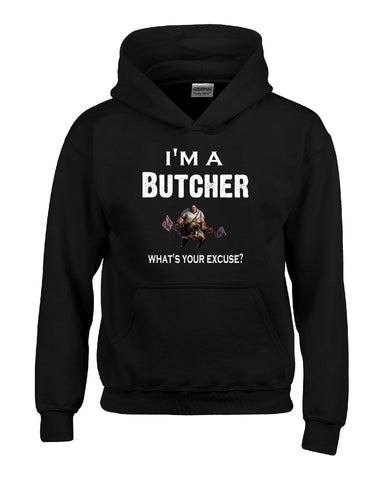 Im A Butcher - What's Your Excuse Funny & Sarcastic - Hoodie S-Black- Cool Jerseys - 1