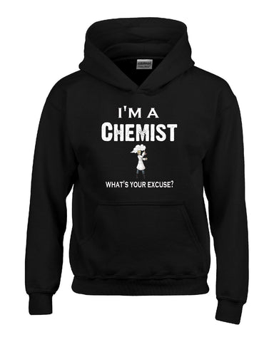 Im A Chemist - What's Your Excuse Funny & Sarcastic - Hoodie S-Black- Cool Jerseys - 1