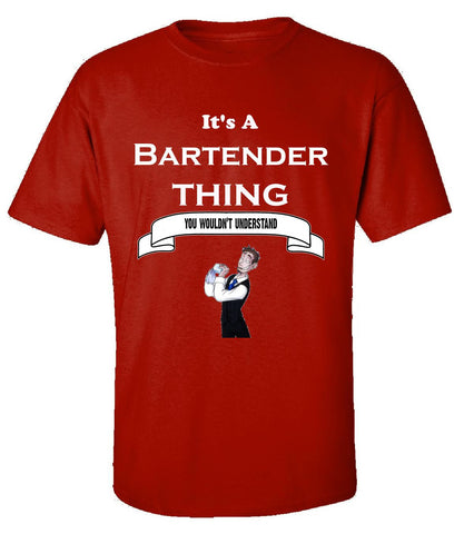 It's a Bartender Thing- You Wouldnt Understand- Funny - Unisex Tshirt S-Red- Cool Jerseys - 1