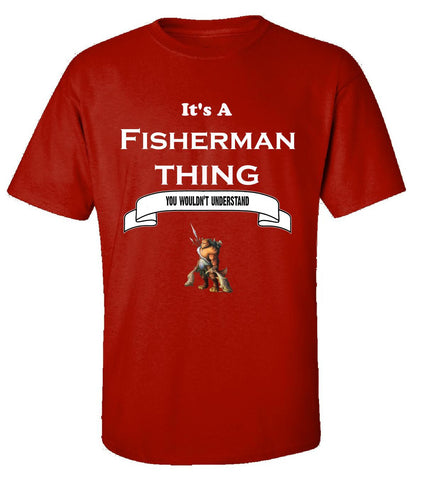 It's a Fisherman Thing- You Wouldnt Understand- Funny - Unisex Tshirt S-Red- Cool Jerseys - 1