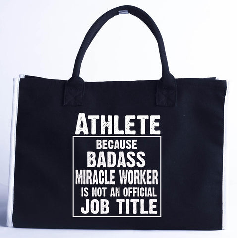 Athlete Cos Badass Miracle Worker Is Not A Job Title - Fashion Customized Tote Bag