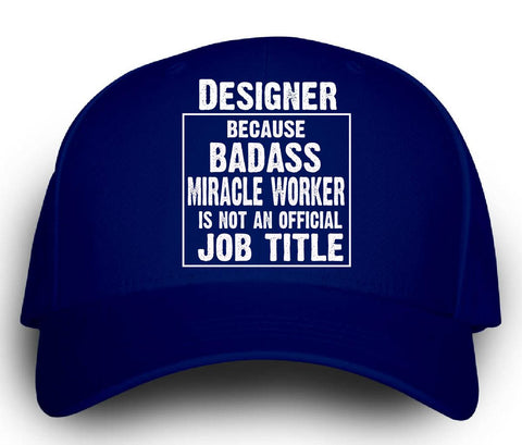 Designer Cos Badass Miracle Worker Is Not A Job Title - Cap -Royal- Cool Jerseys - 1