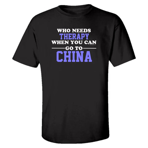 Who Needs Therapy When You Can Go To China - Kids T-shirt