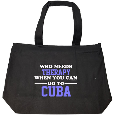 Who Needs Therapy When You Can Go To Cuba - Fashion Zip Tote Bag