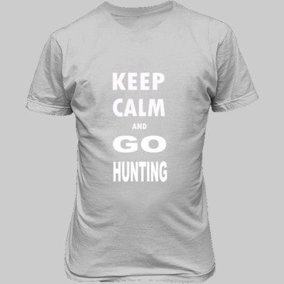 Keep Calm And Go Hunting - Unisex T-Shirt FRONT Print - Cool Jerseys - 1