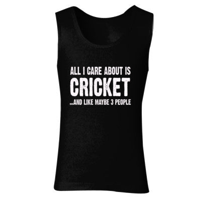 All i Care About Cricket And Like Maybe Three People tshirt - Ladies' Soft Style Tank Top - Cool Jerseys - 1