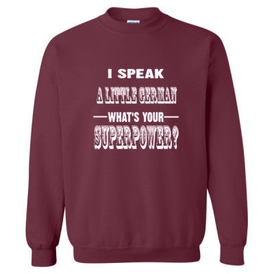 I Speak A Little German - Heavy Blend™ Crewneck Sweatshirt S-Maroon- Cool Jerseys - 1