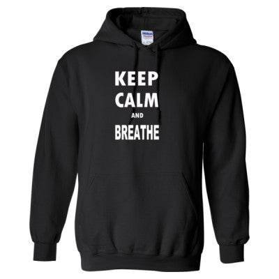 Keep Calm and Breathe - Heavy Blend™ Hooded Sweatshirt S-Black- Cool Jerseys - 1
