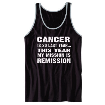 Cancer Is So Last Year Tshirt - Unisex Jersey Tank XS-Black- Cool Jerseys - 1