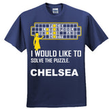 Chelsea Football Shirt - Ultra Cotton™ 100% Cotton T Shirt S-Navy- Cool Jerseys - 4