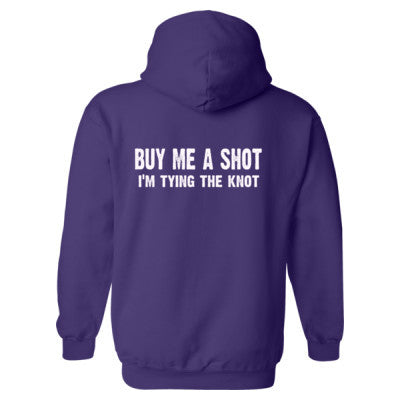Buy Me A Shot, Im Tying The Knot Heavy Blend™ Hooded Sweatshirt BACK ONLY S-Purple- Cool Jerseys - 1