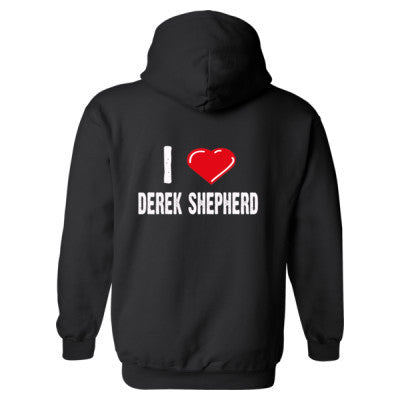 I love Derek Shepherd - Heavy Blend™ Hooded Sweatshirt BACK ONLY S-Black- Cool Jerseys - 1
