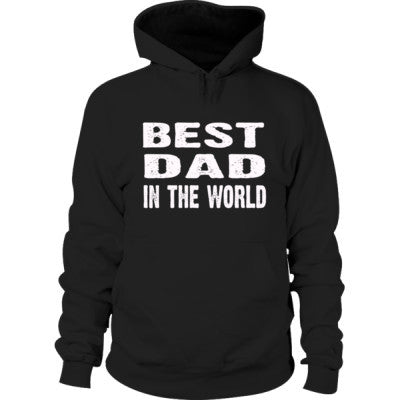 Best Dad In The World - Hoodie S-Black- Cool Jerseys - 1