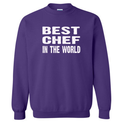 Best Chef In The World - Heavy Blend™ Crewneck Sweatshirt S-Purple- Cool Jerseys - 1